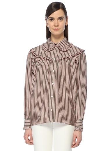 Alexa Chung for AG Sırtı Açık Bağcıklı Gömlek Renkli